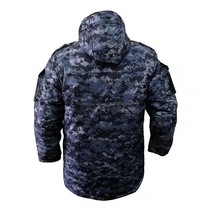 Куртка Бушлат Росгвардия синяя точка