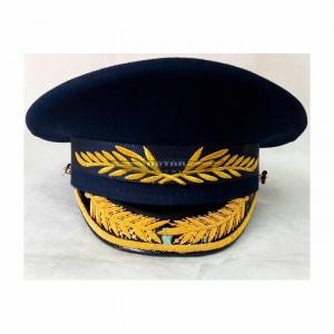Фуражка офисная ВВС с ручной + машинной вышивкой