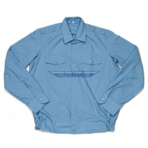 Рубашка полиции голубая повседневная длинный рукав