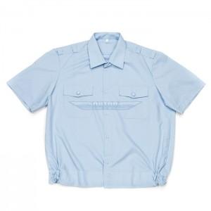 Рубашка полиции голубая повседневная короткий рукав