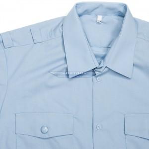 Рубашка полиции голубая повседневная с коротким рукавом