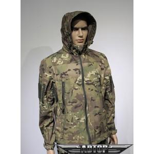 Куртка софтшелл мультикам